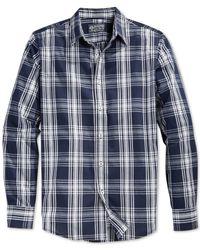 American Rag - Gray Dickison Plaid Shirt for Men - Lyst