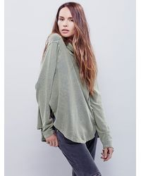 Free People - Green New Romantics Womens New Romantics Spinning Turtle Top - Lyst