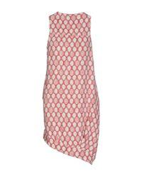 Manila Grace - Red Short Dress - Lyst