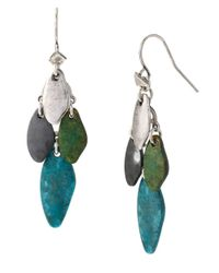 Robert Lee Morris | Multicolor Patina Mixed Bead Chandelier Earrings | Lyst
