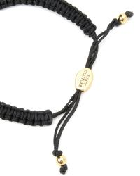 Juicy Couture | Black Dainty Pave Bow Friendship Bracelet | Lyst