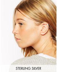 ASOS | Metallic Sterling Silver Bar Long Ear Cuff | Lyst