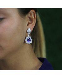Inbar | Blue Tanzanite And Diamond Earrings | Lyst