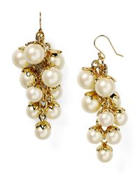 kate spade new york | Natural Petaled Pearls Chandelier Earrings | Lyst