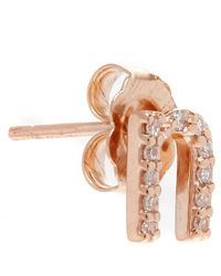 KC Designs - Pink Rose Gold Diamond N Single Stud Earring - Lyst
