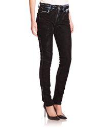 Alexander Wang - Blue Denim X 001 Flocked Slim-Fit Jeans - Lyst