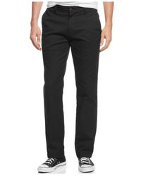 Volcom | Black Men's Frickin Modern-fit Stretch Chino Pants for Men | Lyst
