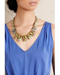Anthropologie | Green Jade Seaglass Necklace | Lyst