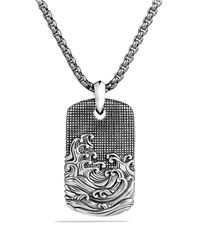 David Yurman | Gray Waves Tag On Chain for Men | Lyst