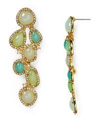 Ralph Lauren | Metallic Lauren Cluster Drop Earrings | Lyst
