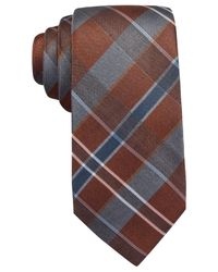 Vince Camuto | Brown Canno Plaid Tie for Men | Lyst