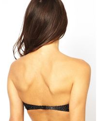 French Connection - Black Starry Night Bandeau Bikini Top - Lyst