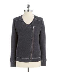 Calvin Klein | Gray Waffle Knit Sweatshirt | Lyst