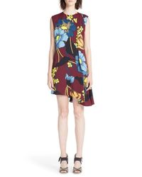 Marni | Multicolor 'melody' Asymmetrical Floral Print Dress | Lyst