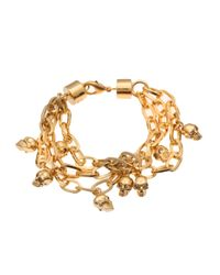 Alexander McQueen | Metallic Skull Charm Bracelet | Lyst
