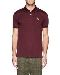 Paul Smith - Red Zebra Logo Polo Shirt for Men - Lyst