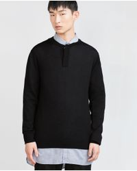 Zara | Black Extra Fine Merino Sweater for Men | Lyst