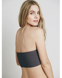Free People - Gray Basic Seamless Bandeau - Lyst