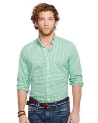 Polo Ralph Lauren | Green Checked Poplin Shirt for Men | Lyst