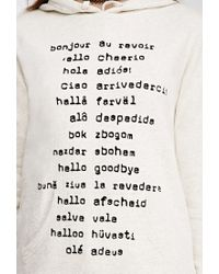 Forever 21   Natural Hello Goodbye Graphic Hoodie   Lyst