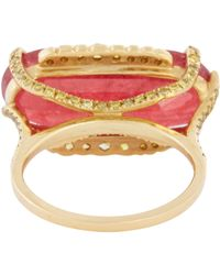 Sharon Khazzam | Purple Women's Rhodonite, Yellow Diamond & Gold Luden Ring | Lyst