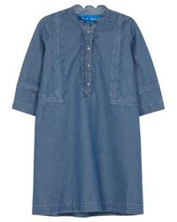 M.i.h Jeans | Angie Blue Scalloped Chambray Dress | Lyst