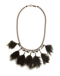 Étoile Isabel Marant | Green Feather Necklace | Lyst