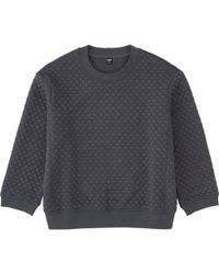 Uniqlo - Gray Women Quilted Long Sleeve Pullover - Lyst