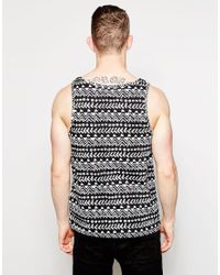 Native Youth - Black Geo Print Vest for Men - Lyst