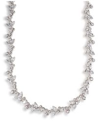 Carolee - Multicolor Crystal Floral Collar - Lyst