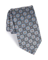 John W. Nordstrom | Gray 'nasco' Medallion Silk Tie for Men | Lyst