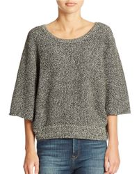Free People | Black Rising Sun Pullover | Lyst
