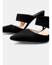 Mango - Black Slingback Shoes - Lyst