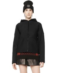 Alexander Wang | Black Scuba Zip Up Hoodie | Lyst