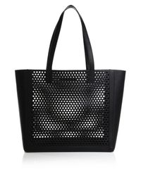 Loeffler Randall - Black Perforated Tote - Lyst