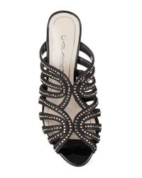 Caparros | Black Rosemary Gemstone Sandals | Lyst