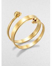 Alexander McQueen | Metallic New Twin Wrap Cuff Bracelet | Lyst