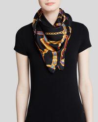 Ralph Lauren | Black Lauren Adrienne Status Belts Silk Scarf | Lyst