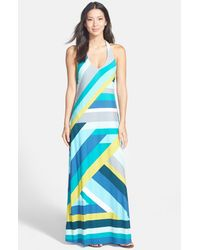 Tommy Bahama | Green Sunspot Tide Halterneck Maxi Dress | Lyst