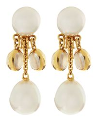 Assael - 18k White South Sea Pearl Moonstone Earrings - Lyst