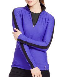 Lauren by Ralph Lauren | Purple Stretch-mesh Pullover | Lyst