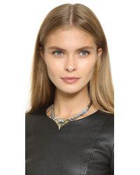 Iosselliani - Metallic Crystal Necklace - Lyst