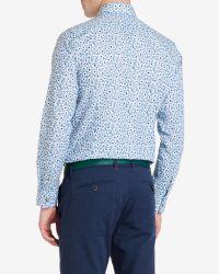 Ted Baker - Blue Printed Floral Shirt for Men - Lyst