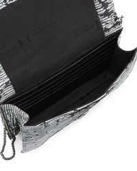 Halston - Black Embossed Wallet Clutch Bag - Lyst