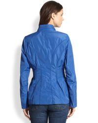 Creenstone - Blue Smockeddetail Jacket - Lyst