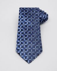 Armani - Blue Geometric Flower Classic Tie for Men - Lyst