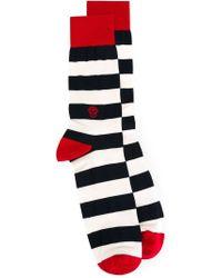 Alexander McQueen | Multicolor Men's Striped Skull Mid-calf Socks for Men | Lyst