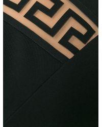 Versus - Black Greek Fret Fitted Dress - Lyst