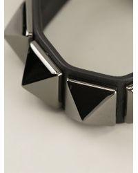 Valentino - Black 'Rockstud' Bracelet - Lyst