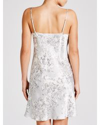 John Lewis | Gray Brushed Floral Silk Chemise | Lyst